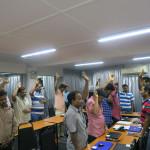 Raising Hands for Jesus in Computer Class