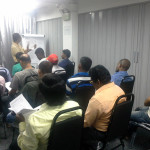 Pastor Chris teaching English class