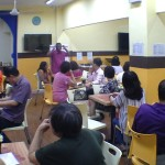 Prophet Amos Jayarathnam conducting training in prophesying & gifts of the Holy Spirit