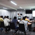 Bro Sagayam teaching the computer class